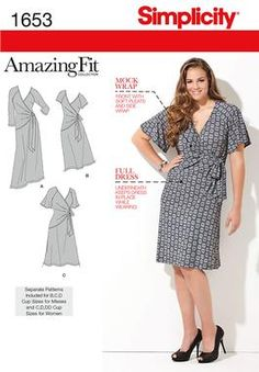 Simplicity Creative Group - Misses' & Plus Sizes Amazing Fit Knit Dress
