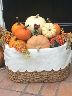 Pumpkins in a basket :-) #KCHAutumnInspiration