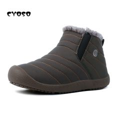 aa5aa8592cf16 Enjoy exclusive for DADAWEN Men Women Slip On Waterproof Outdoor Anti-Slip Fur  Lined Ankle Snow Boots online - Alltrendytop