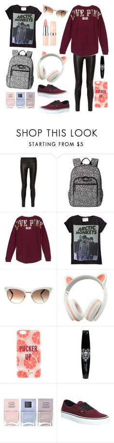 """""""Love Pink (Victoria Secret) College Inspired Set #WomensFashion"""" by thereclusiveblogger ❤ liked on Polyvore featuring Helmut Lang, Vera Bradley, Victoria's Secret, Gucci, Kate Spade, Hot Topic, Nails Inc. and Vans"""