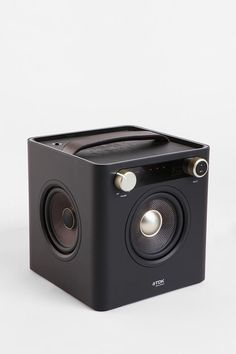 TDK Sound Cube - Produces excellent and loud sound considering its portable and well-designed box. It also features as an FM Radio. TDK Sound Cube is great for your iPod and iPhone! | To get more updates on Portable Speaker for iPhones, follow Best Buy Portable Speakers (https://www.pinterest.com/bestbuyspeakers/)