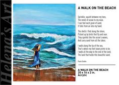 PAINTINGS AND POETRY Grain Of Sand, Beach Walk, Poetry, Waves, Ocean, Birds, Paintings, Colours, Abstract