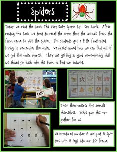 Learning Centers, Math Centers, The Very Busy Spider, Line Math, Fire Safety Week, Learning Stories, Kindergarten Blogs, Try To Remember, Readers Workshop