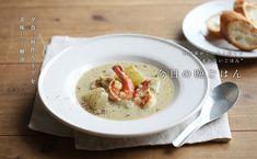 海老と冬瓜のココナッツシチュー Hummus, Recipies, Cooking, Ethnic Recipes, Soups, Cream, Food, Recipes, Kitchen