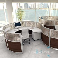 Modular Office Furniture Cubicles modern cubicles - curved workstations | office | pinterest