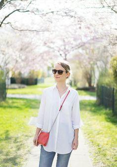 Frühlingslook 2.0 // Weiße Bluse