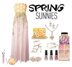 """""""springtime is almost here"""" by mikaela-foreman on Polyvore featuring Giambattista Valli, Victoria's Secret, Chanel, Ippolita, Bavna, Sisley, Hourglass Cosmetics, Bare Escentuals and Charlotte Olympia"""