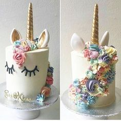 Omg I loooove this! Maybe Stella will get one for xmas (Unicorn Cake Rosanna Pansino) Pretty Cakes, Cute Cakes, Beautiful Cakes, Amazing Cakes, Stunningly Beautiful, Unicorn Birthday Parties, Unicorn Party, Unicorn Cakes, Birthday Cake
