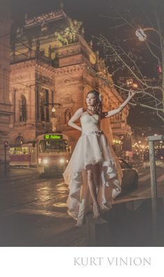 London wedding & Prague pre wedding photographer - Prague pre wedding : Germaine's fashion pre wedding night time portraits in front of the National Theater. Sometimes everything comes together for a reason. Though it was cold it did not dampen the wonderful time we had with Germaine & Nick who traveled over from Singapore to have a pre wedding portrait session in Prague. When you have two very fun, easy going hipsters like Germaine & Nick anything is possible and, well, I hope the results…