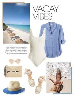 """""""Vacay vibes"""" by isidora ❤ liked on Polyvore featuring Solid & Striped, Kayu, Christian Dior, BeachPlease and vacayoutfit"""