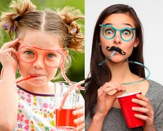 $7 for a Pack of 4 Fun Straw Glasses Best Deals Online, Glasses, Fun, Eyewear, Eyeglasses, Eye Glasses, Funny, Sunglasses