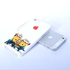 Apple Logo Despicable Me Minion - Print on Hard Cover iPhone 5 Black Case - iPhone 4/4s Case - Please Leave a Note