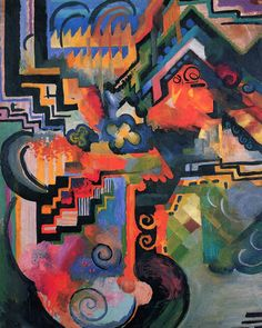 "terminusantequem: "" August Macke (German, 1887-1914), Colored composition (Hommage to Johann Sebastian Bach), 1912