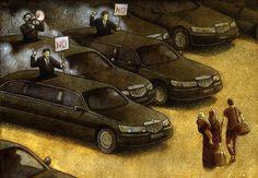 25 illustrations satiriques qui montrent l'évolution de notre espèce.