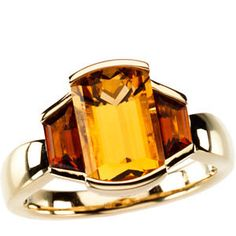 14kt Yellow Citrine & Madeira Citrine Ring. On your next vacation, don't forget to visit us in the fabulous Florida Keys! We offer unique nautical jewelry, treasure coins, fine jewelry and hand made p