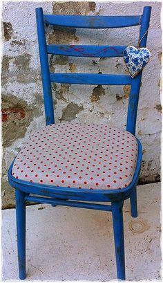 Greek Blue Chalk paint™ decorative by Annie Sloan .Gone Dotty!