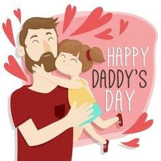 Happy Daddy Day, Happy Fathers Day Greetings, Father's Day Greetings, Happy Mother Day Quotes, Happy Kids, Happy Mothers Day, Father Cartoon, Father's Day Drawings, Dad Drawing