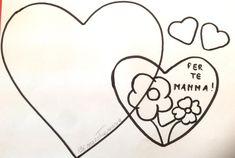 Sagomati cuori Lavoretto per la festa della mamma Quadretto per la mamma Grande, Valentino, San