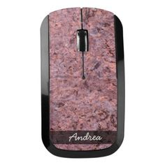 Geology Pink Rock Texture Photo any Name Wireless Mouse