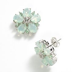 Simply Vera Vera Wang Sterling Silver Flower Stud Earrings - made with Swarovski Elements