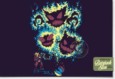 Os caçadores de pokémons fantasmas.