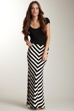 Funky Jeans Diagonal Stripe Skirt
