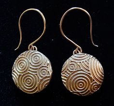 Crazy Circles - Lentil Bead Earrings Photograph  - Crazy Circles - Lentil Bead Earrings Fine Art Print