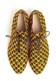 Fish Scale Ankara shoes