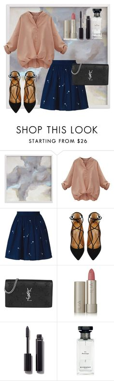 """""""Untitled #74"""" by deslightwood ❤ liked on Polyvore featuring Anouki, Aquazzura, Yves Saint Laurent, Ilia, Chanel and Givenchy"""
