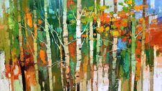 Iosif Derecichei - Never Leave Me Alone Tree Artwork, Forest Art, Green Vase, Commercial Art, Calligraphy Art, Various Artists, Art Plastique, Landscape Art, Impressionism