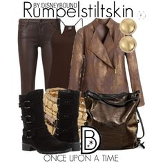 A fashion look from September 2014 featuring brown tank top, fake leather jacket and super skinny jeans. Browse and shop related looks.