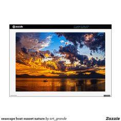 "seascape boat sunset nature skins for 17"" laptops"