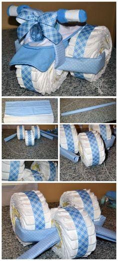 Tricycle Diaper Cake Tutorial: