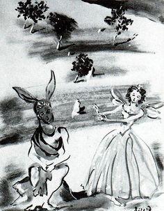 * Le Songe 1942 projet de costumes Christian Bérard