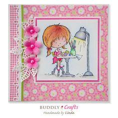 Design motivo de papel-eline /'s babies-Pink por Marianne Design pb7050