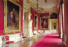 The Austrians love red!  Take a stroll through a Viennese palace.