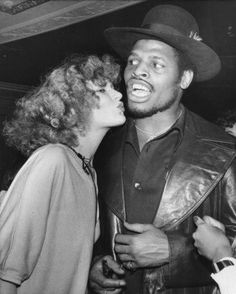 Leon Spinks with Lisa Gold at Studio 54, 1978
