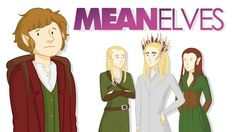 Mean Elves, A Funny Animated Mashup of 'The Hobbit' & 'Mean Girls'