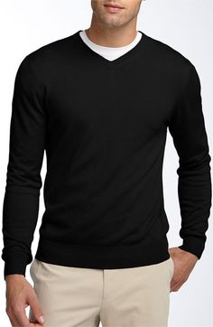 Facconable Silk Blend V-neck Sweater $145