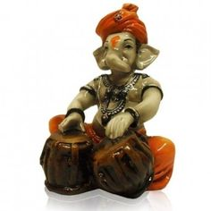 Fiber Items : Fiber Ganesha Playing Tabla