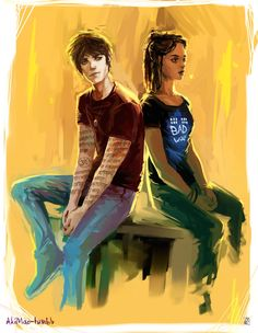 Cassandra Clare, akimao:   Jordan Kyle & Maia Roberts ( guest star: Doctor Who shirt )