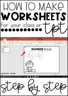 Step-by-step tutorial for making worksheets for you classroom or TpT! – Melody Thomas Step-by-step tutorial for making worksheets for you classroom or TpT! Step-by-step tutorial for making worksheets for you classroom or TpT! Teacher Organization, Teacher Tools, Teacher Hacks, Teacher Resources, Organized Teacher, Teacher Stuff, Teachers Toolbox, Teacher Binder, Teacher Pay Teachers
