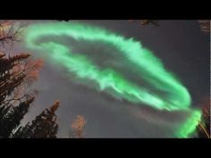 Time-lapse movie of the coronal aurora appeared over UAF ski trail, Fairbanks, Alaska. Red aurora was also captured.  (1:54 - 2:32am AKDT, March 17, 2013)