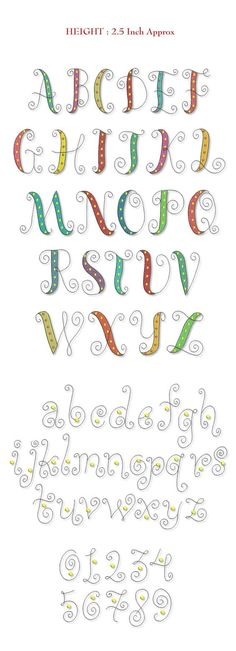 Font Font Single Letter Smartstitches embroidery designs Whimsy Font: