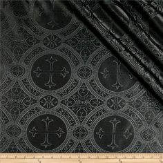 Clergy Brocade Black from @fabricdotcom  This elegant brocade fabric has an all over cross motif design and the fabric surface feels slightly raised to the touch. This fabric is beautiful for creating choir robes, altar cloths and more.