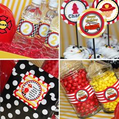 Firetruck Party - Firetruck Birthday - Fireman Printable Collection by Amanda's Parties To Go. $29.00, via Etsy.