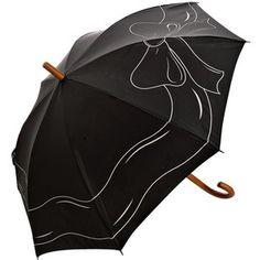 Felix Rey Black Bow Detail Umbrella, $48