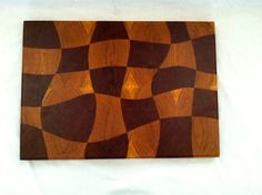 Drunken Checkerboard Cutting Board