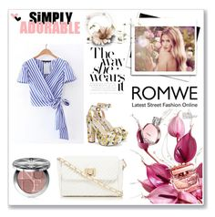 """""""Romwe"""" by littleblackdress-3 ❤ liked on Polyvore featuring Red Herring, Whiteley and Christian Dior"""