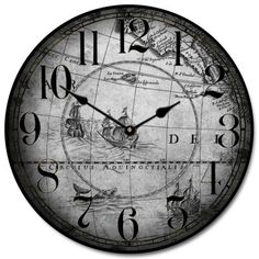 World Map Clock available in many sizes. Come see many more map clocks